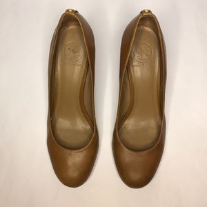 Tory Burch women's Brown leather heels 9.5 M